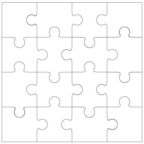 16 piece jigsaw template by bird free templates pinterest