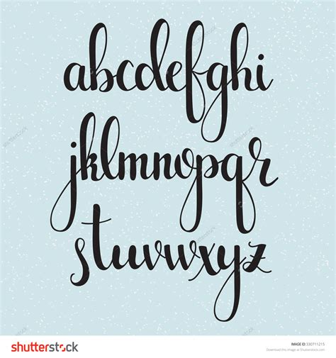 Letter Style Of Writing handwritten brush style modern calligraphy cursive font