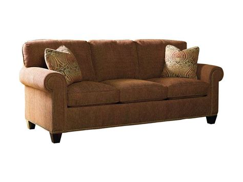 sherrill sofa sherrill living room three cushion sofa w nail trim 3131