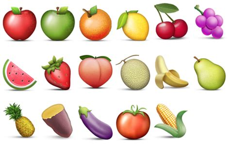 vegetables emoji emoji fruit and vegetables emoji