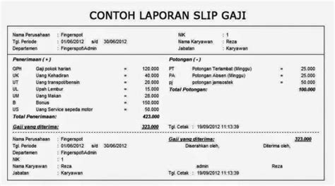 format slip gaji pdf 9 contoh slip gaji karyawan swasta guru perusahaan