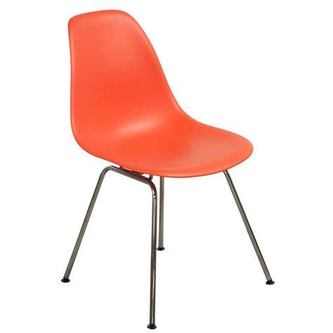 Orange Chair herman miller eames molded plastic side chair red orange