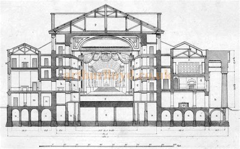 blue print of house the royal opera house covent garden bow street london