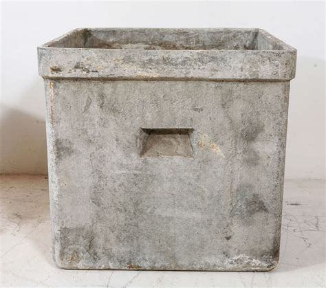 Modern Concrete Planters by Modern Concrete And Resin Planter At 1stdibs