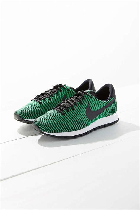 nike air knit nike air pegasus 83 knit jacquard sneaker in green lyst