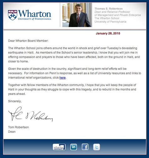 the of pennsylvania wharton school dean letter misc dean