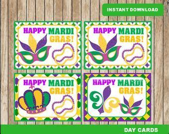 Printable Mardi Gras Cards mardi gras cards etsy