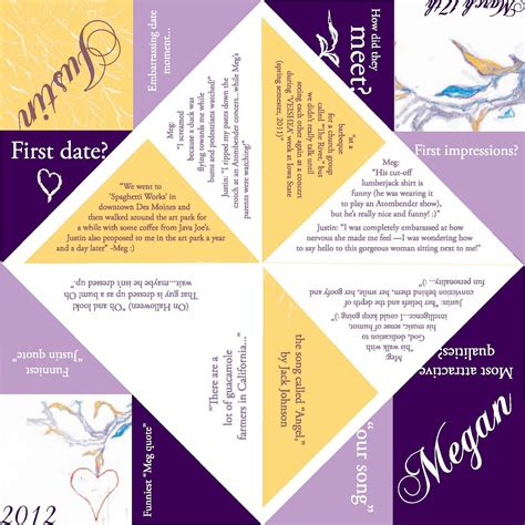 catcher template wedding cootie catcher template search my