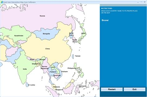 asia map test pin asia map quiz on