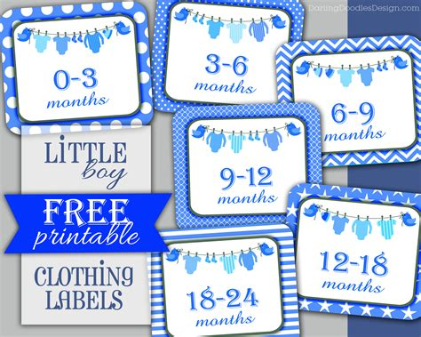 printable label sizes free printable children s clothing size labels