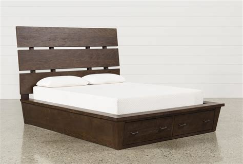 storage king bed livingston california king storage bed living spaces