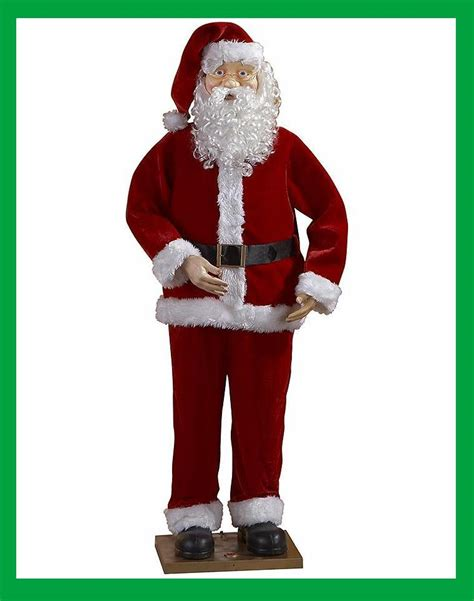 singing dancing animated 6ft santa claus christmas decor
