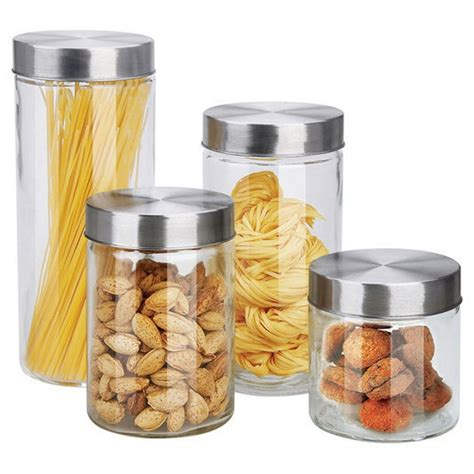 glass kitchen canister set 4 glass canister set kitchen products i