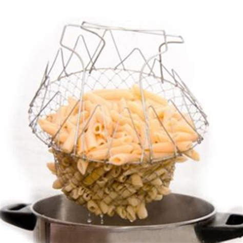 Chef Basket Kitchen Tools 1pcs foldable steam rinse strain fry chef basket magic basket mesh basket strainer net