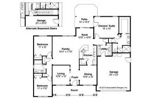 craftsman home floor plans craftsman house plans adrian 30 511 associated designs