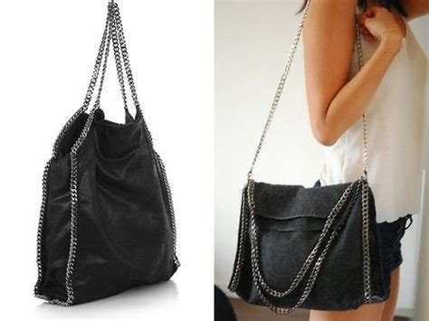 Tas 3way diy stella mccartney falabella chain trimmed bag tutorial