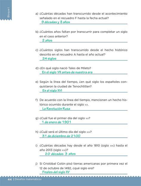 libro de respuestas matepracticas 4 grado l 237 nea del tiempo bloque i lecci 243 n 16 apoyo primaria