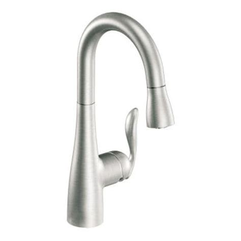 moen arbor kitchen faucet moen arbor single handle pull down sprayer bar faucet