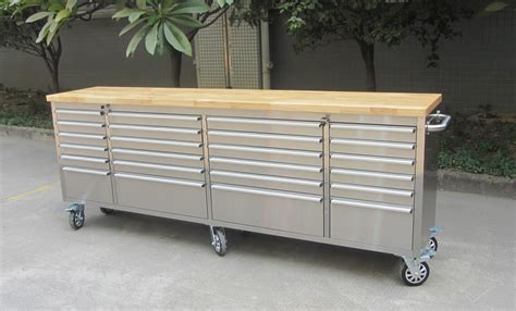 tool chest work bench 96 quot stainless steel 24 drawer work bench tool chest