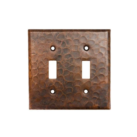 Rubbed Bronze Switch Plates Premier Copper Products 2 Hammered Copper Toggle Switch Plate Rubbed Bronze Quantity