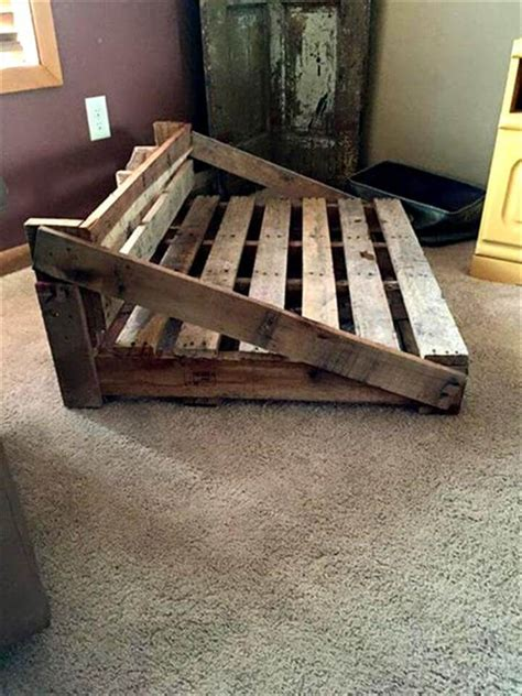 diy pallet pet bed rustic bed from the pallets 101 pallets