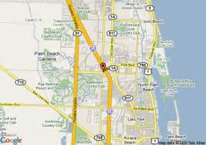 palm gardens florida map map of doubletree hotel palm gardens west palm
