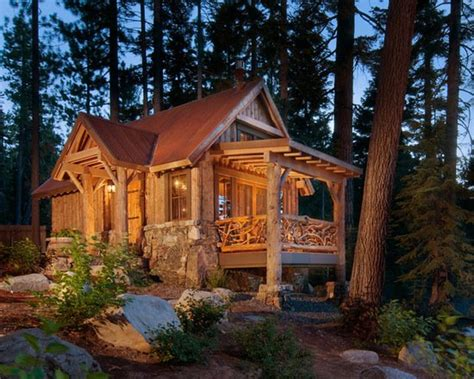 17 lovely small mountain cabin designs ideas style