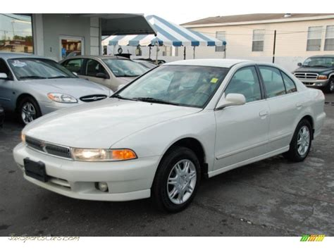 white mitsubishi sports car 2001 mitsubishi galant es in northstar white 208014