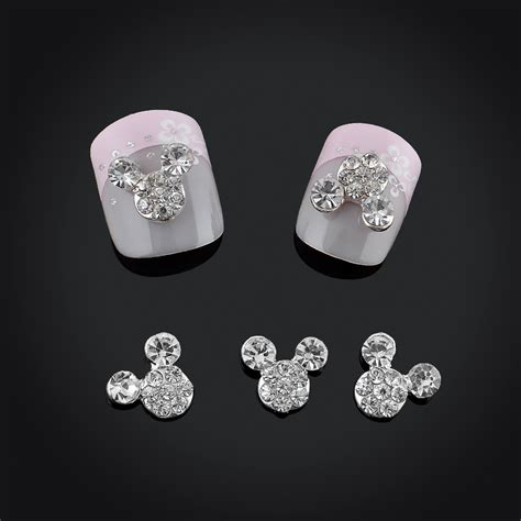 2015 glitter drill mouse nial decorations alloy rhinestones 3d nail jewelry charms for