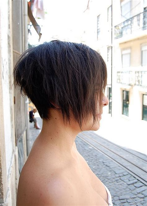 back of short asymetrical haircuts asymmetric bob haircut for summer side view of trendy