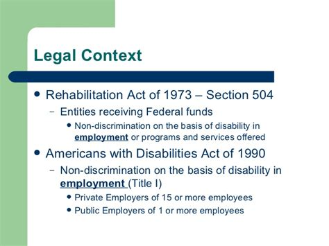 americans with disabilities act section 504 workplace design and accommodating workers with disabilities