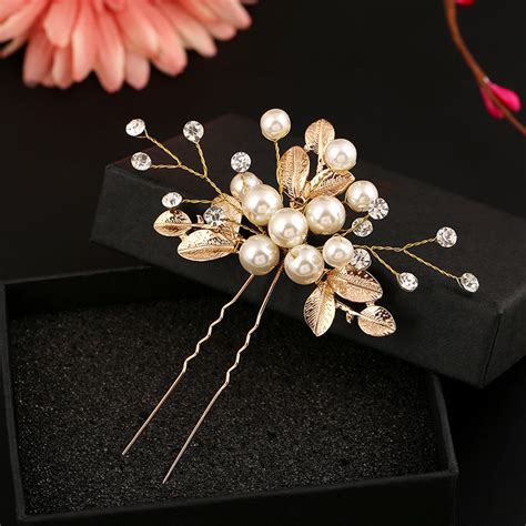 Pearl Wave Hairpin Fashion Accessories Sxp2332 buy wholesale flower hairpin from china flower hairpin wholesalers aliexpress