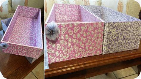 decoracion de cajas de carton para guardar ropa diy cajas para organizar t 250 cuarto youtube