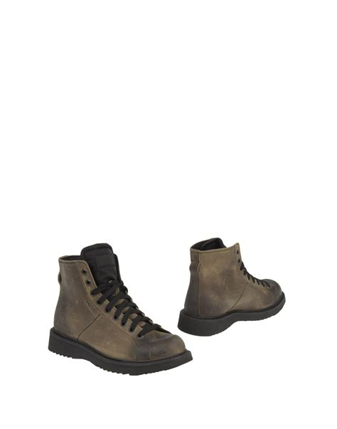 prada mens ankle boots prada ankle boots in brown for lead lyst