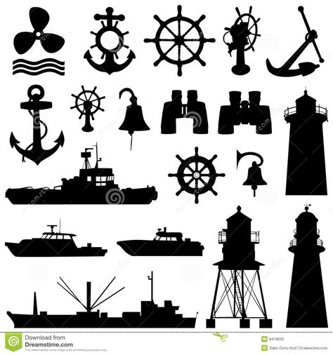 nautical design elements vector nautical elements vector stock photography image 8419632