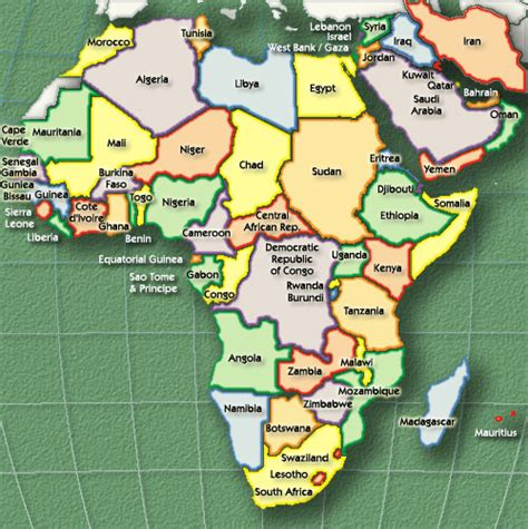 Current Map Of Africa by Kusaf Kosin University Students From Africa Forum