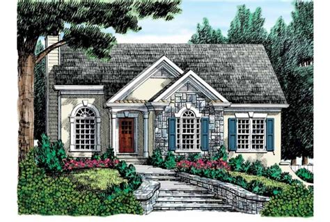 stucco house plans eplans cottage house plan stucco and stone exterior