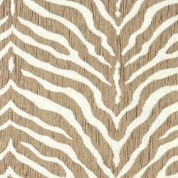 beige zebra woven chenille upholstery fabric by the yard