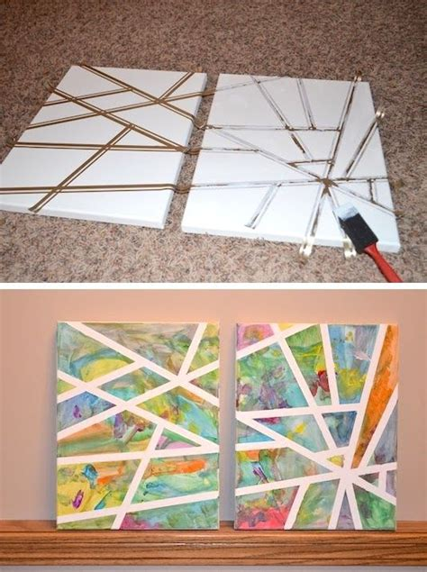 creative crafts for 25 best ideas about canvas on canvas