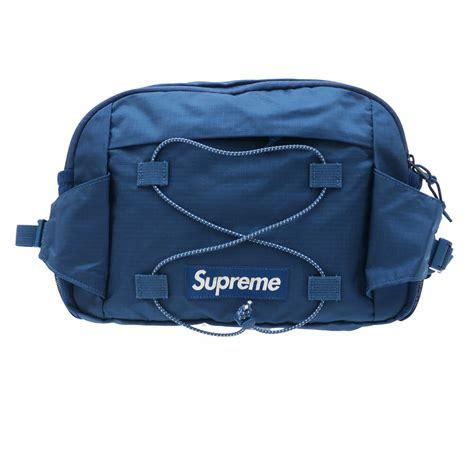 supreme bag supreme waist bag blue millioncart