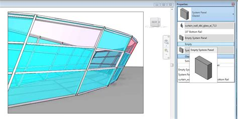 slanted curtain wall revitcity com how can i create opening in slanted