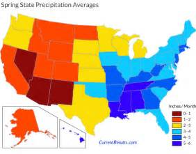precipitation averages for each usa state current