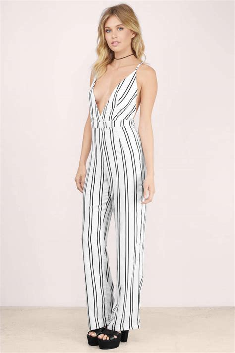 front of the line pinstripe jumpsuit 19 tobi us