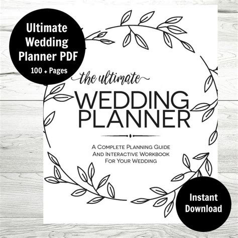 ultimate printable wedding planner wedding planner printable wedding binder wedding