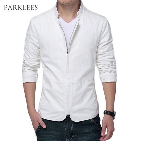 Blazer Casual Black Zipper brand white jacket 2017 fashion design mens slim fit windbreaker jacket casual stylish