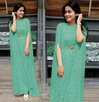 Dress Kaftan Terbaru dress terbaru kaftan cape brukat cantik