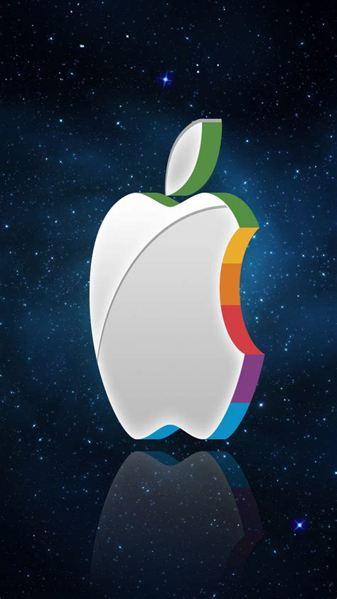 apple logo  space android wallpaper android hd