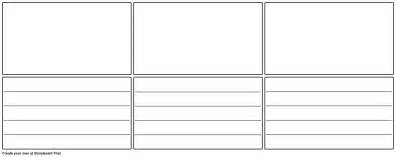 blank storyboard template with lines wide storyboard
