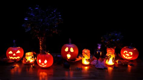 Illuminating Christmas Lights Free Images Glowing Fall Spooky Dark Orange Pumpkin