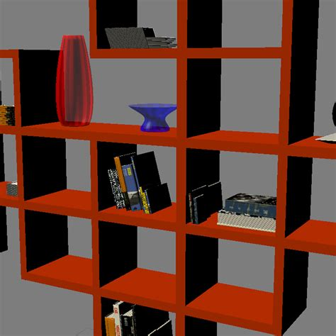 bookshelf 2 3d model max obj 3ds fbx mtl cgtrader